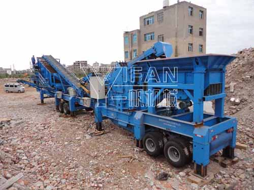 construction waste crusher machine